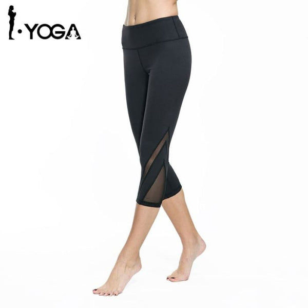 Women Fitness Yoga Pants Gym Sports Slim Sexy Mesh Leggings Yoga Pants