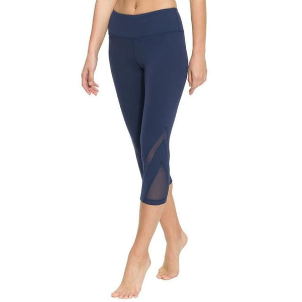 Women Fitness Yoga Pants Gym Sports Slim Sexy Mesh Leggings Navy / S Yoga Pants