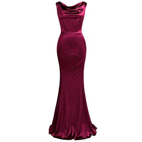Womens 30S Brief Elegant Mermaid Evening Dress Formal
