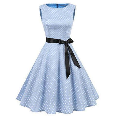 Womens Audrey Hepburn Rockabilly Vintage Dress 1950S Retro Cocktail Swing Party Dress Cocktail