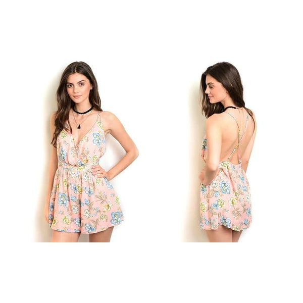 Womens Floral-Print Rompers