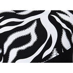Womens One Shoulder Zebra Gemstones Splicing Evening Dress Back To Angel-Fashions Store