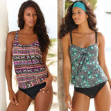 Womens Plus Size Tankini Swimming Swim Swimsuits Vintage Beach Wear Body Suits