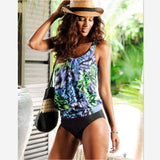 Womens Plus Size Tankini Swimming Swim Swimsuits Vintage Beach Wear Wc18174 / P Body Suits