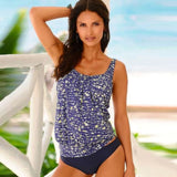 Womens Plus Size Tankini Swimming Swim Swimsuits Vintage Beach Wear Yh1817B1 / P Body Suits