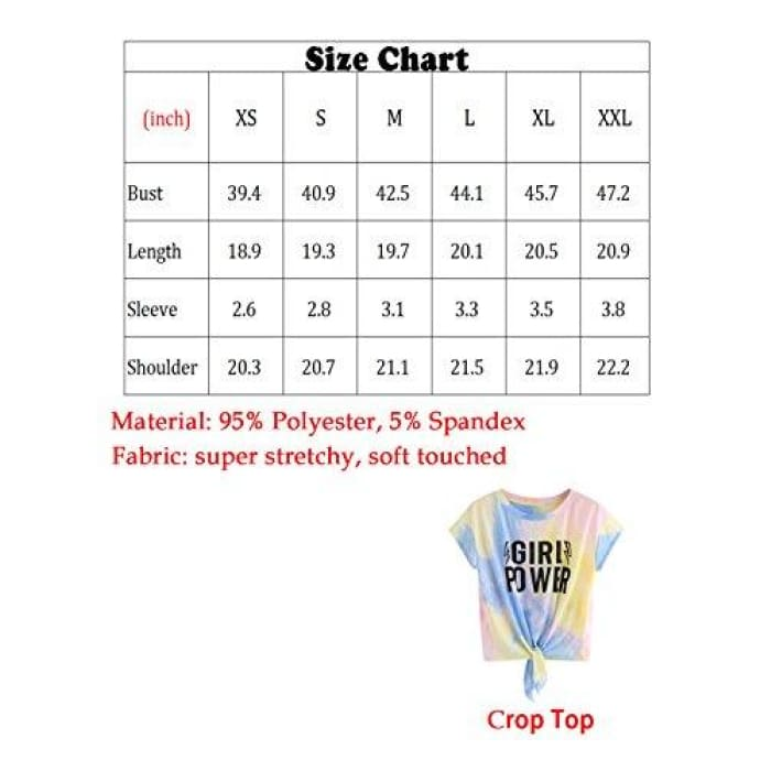 Womens Short Sleeve Tie Dye Front Knot Casual Loose Fit Tee T-Shirt Knits & Tees