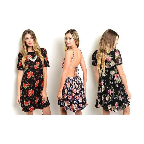 Womens Spring Floral Dresses