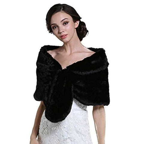 Womens Wedding Fur Wraps And Shawls For Women Bridal Fur Stole Wraps & Pashminas