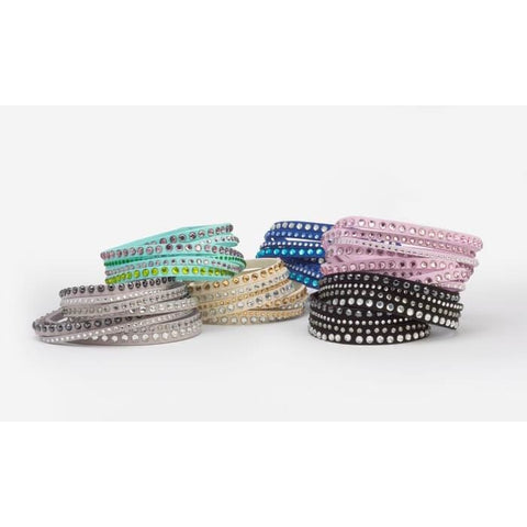 Wrap Bracelets With Swarovski Elements In Vegan Leather