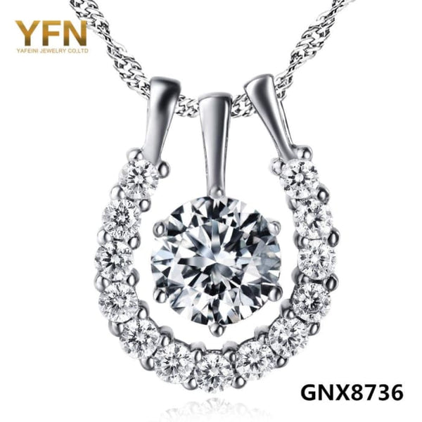 Yfn 2016 Fashion Jewelry 925 Sterling Silver Pendant Necklace Top Quality Cubic Zircon Collar Necklace For Women Gnx8736 Necklaces