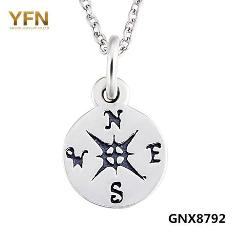 Yfn 925 Sterling Silver Compass Pendant Necklace Life Direction Jewelry Graduation Birthday Gifts For Women And Men Gnx8792 Necklaces