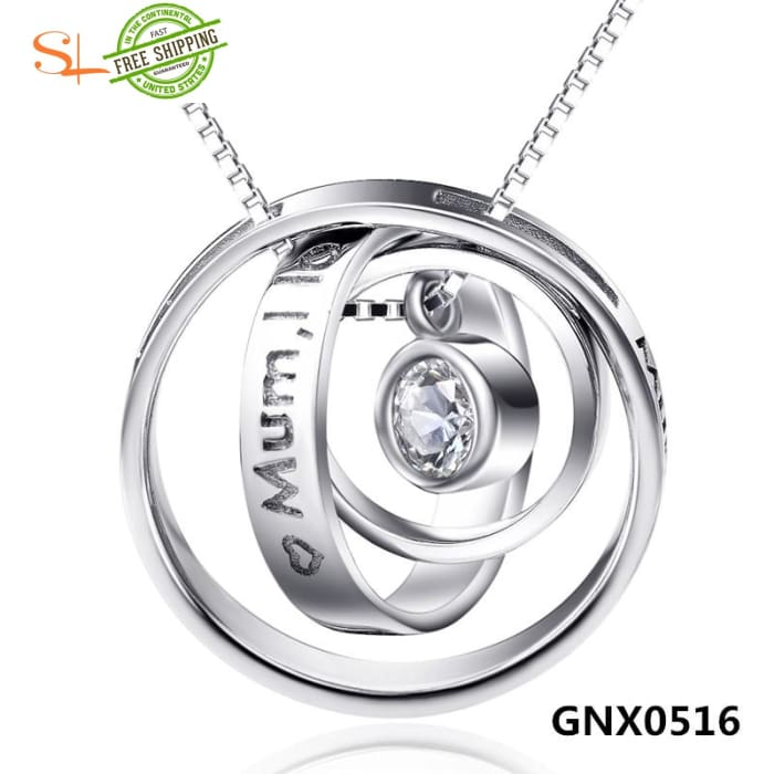 Yfn Fashion Jewelry 925 Sterling Silver Circles Necklaces & Pendants Mothers Gifts Love Necklace For