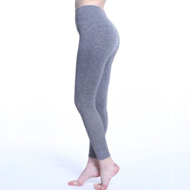 Yoga Pants Women Leggins Sport High Waist Hollow Gray / S Yoga Pants
