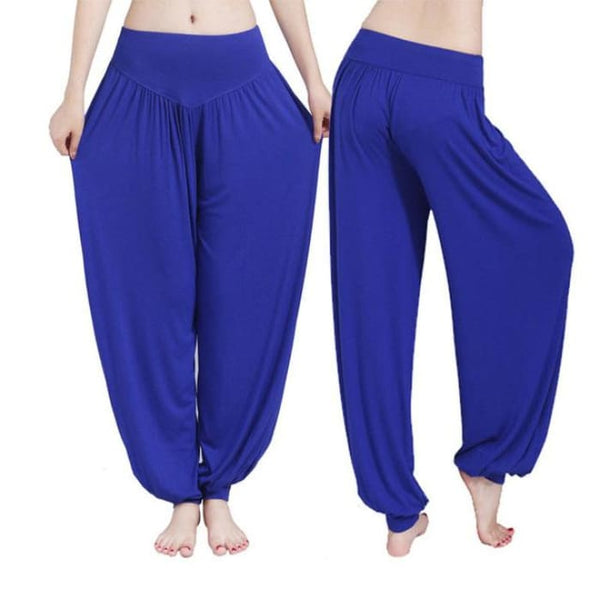 Yoga Pants Women Plus Size Colorful Bloomers Dance Yoga Deep Blue / S Yoga Pants