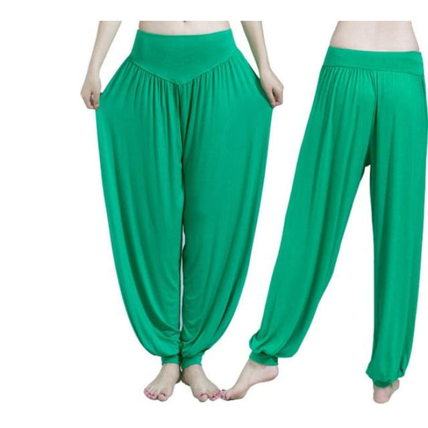 Yoga Pants Women Plus Size Colorful Bloomers Dance Yoga Green / S Yoga Pants