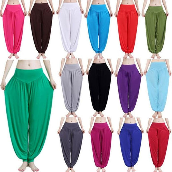 Yoga Pants Women Plus Size Colorful Bloomers Dance Yoga Yoga Pants