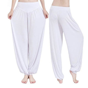 Yoga Pants Women Plus Size Colorful Bloomers Dance Yoga White / S Yoga Pants