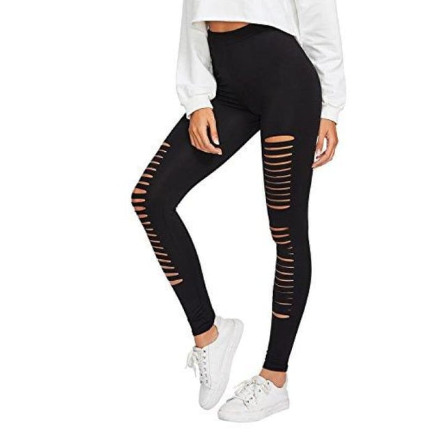 Yoga Workout Pants High Waist Cutout Tights X-Small / Black #8 Leggings