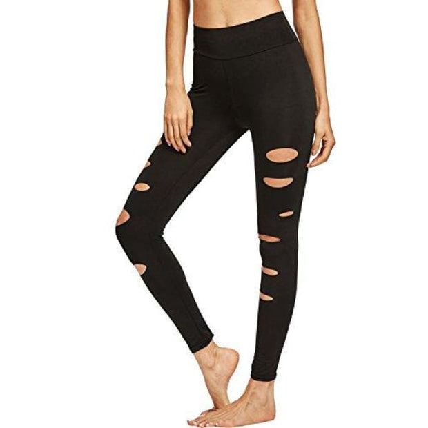 Yoga Workout Pants High Waist Cutout Tights X-Small / Black#8 Leggings