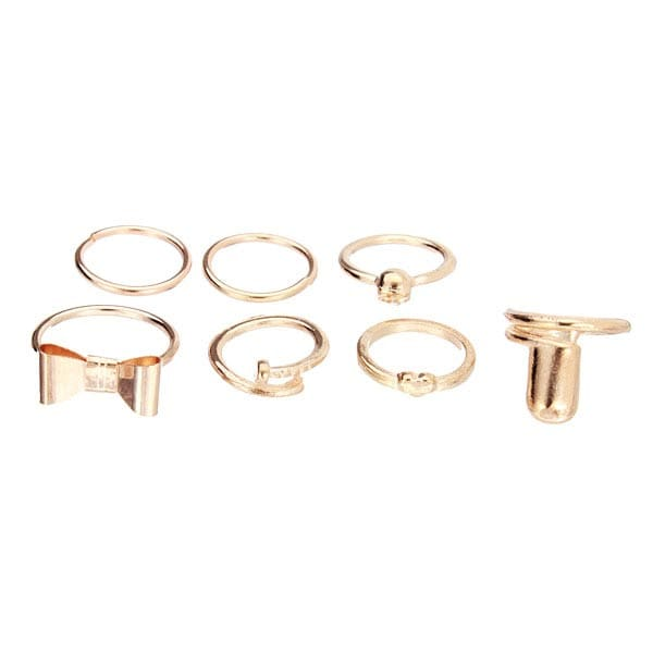 Gold Heart Joint Ring