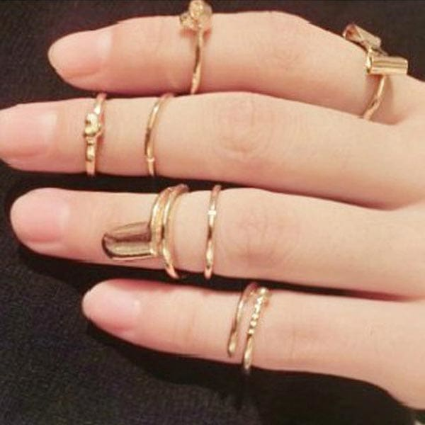 Gold Bowknot Joint Ring
