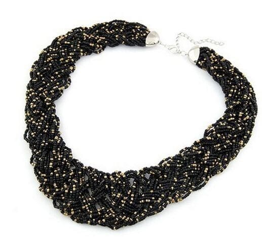 Star Jewelry Fashion Bohemia 5 Colors Temperament Candy Beads Statement Necklace For Woman 2015 New Pendants Choker Necklaces 35
