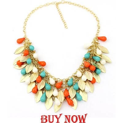 2015 Women Chokers Necklace Handmade Bead Necklaces Bohemia Statement Necklace Jewelry Trends For Gift Party Wedding