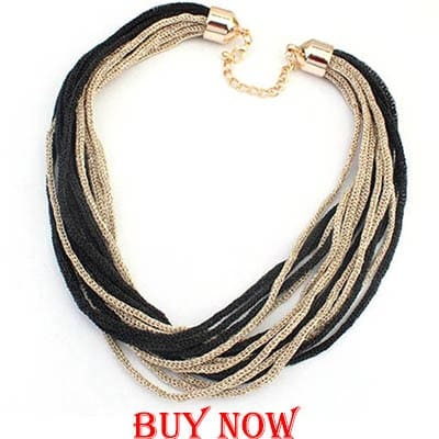 2015 New Hot Sell Jewelry Bohemia Women Necklaces & Pendants Gold Weave Link Chain Short Chokers Statement Necklace