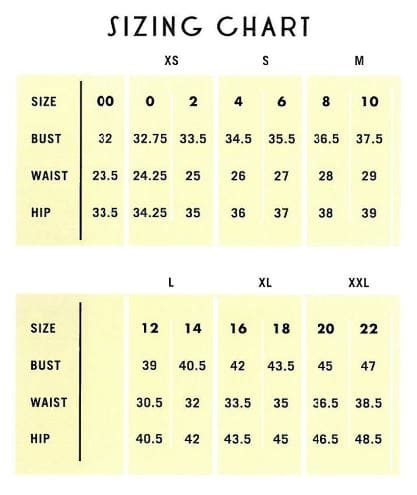 Image result for best size chart