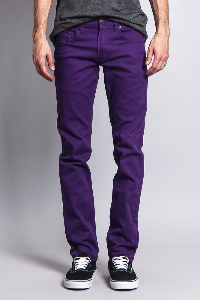 3808cbab535a4 Men's Skinny Fit Colored Jeans DL937 (Purple) – G-Style USA