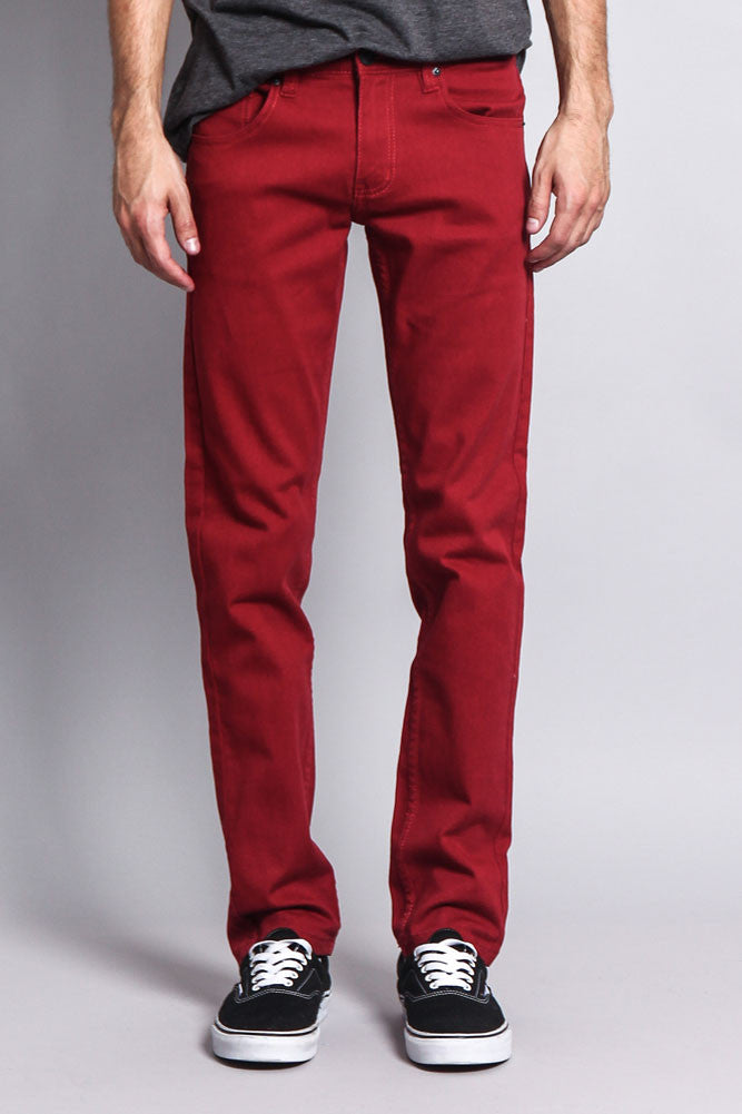 022d0e5129 Men's Skinny Fit Colored Jeans DL937 (Rust)
