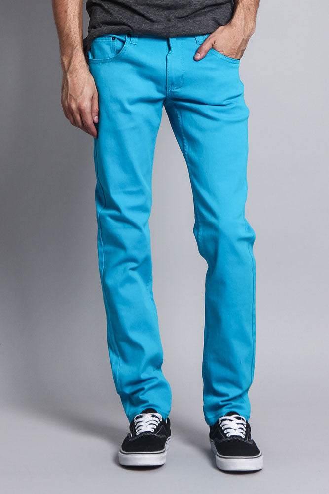 Victorious Mens Colored Twill Skinny Jeans Free Shipping GS01//DL937