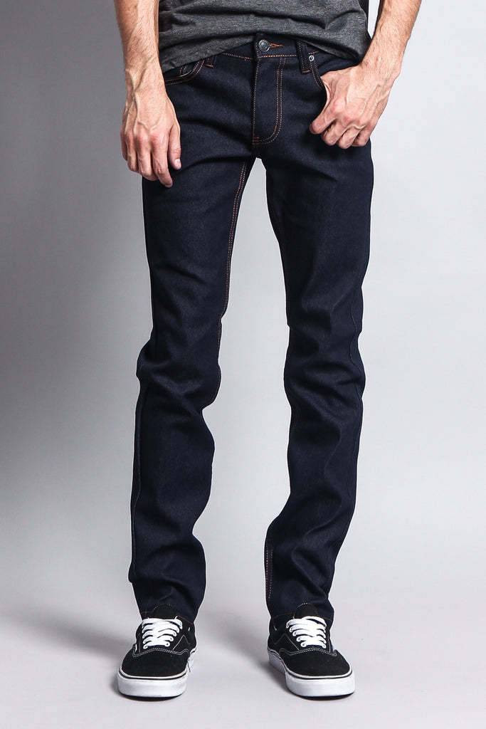 dd65d1d3 Men's Skinny Fit Raw Denim Jeans DL938 (Indigo/Timber) – G-Style USA