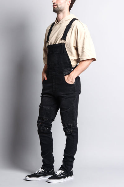 wide selection of designs fashion style of 2019 pretty and colorful Men's Distressed Denim Overalls