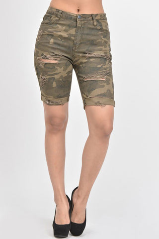 47bd21d107e3 Women's Destroyed Skinny Shorts RSS394 - D7B. $24.99