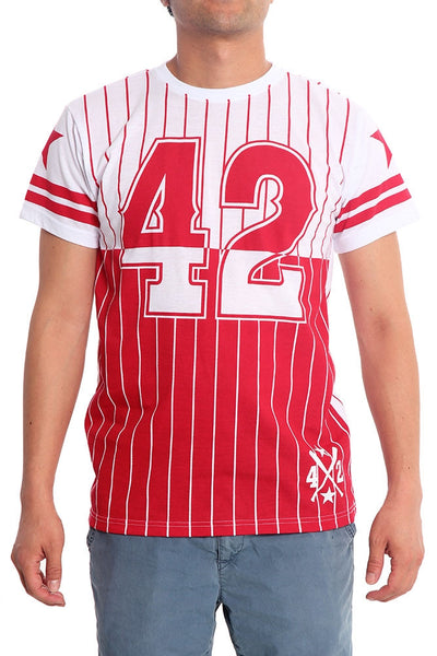 42 Star Pinstripe Baseball T-Shirt
