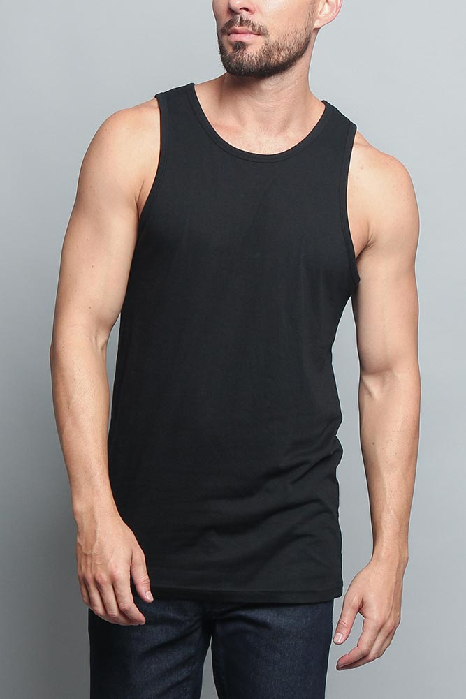 16db3fe31ad26 Solid Color Long Length Curved Hem Tank Top TT47 - GStyleUSA.com – G ...
