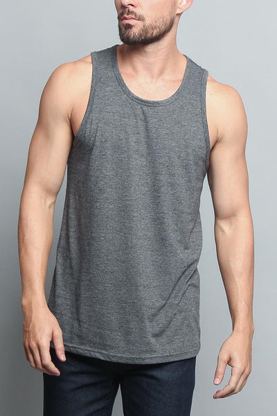 9b4214b4f06b8 Solid Color Long Length Curved Hem Tank Top TT47 - GStyleUSA.com – G-Style  USA