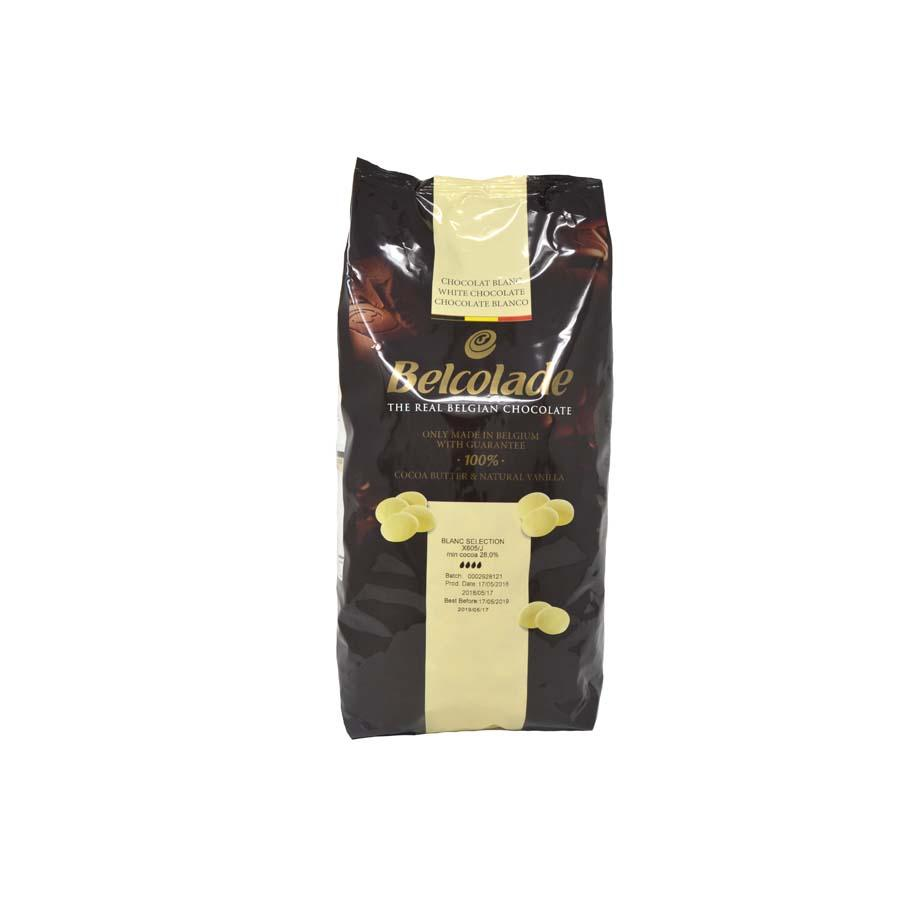Belcolade - 15kg White Chocolate Drops