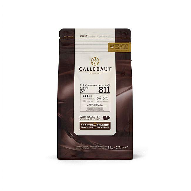Callebaut - 1kg Dark Chocolate Easimelt 54.5%