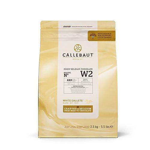 Callebaut - 2.5kg White Chocolate Easimelt