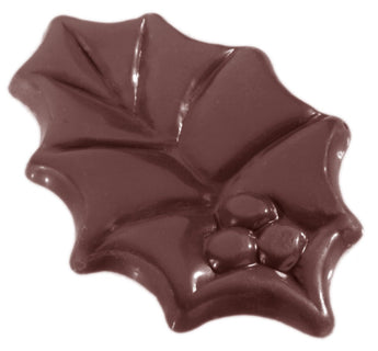 CW1439 Holly Leaf - Polycarbonate Chocolate Mould