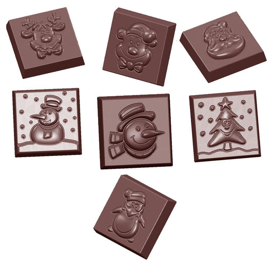 CW1660 Christmas Assortment - Polycarbonate Chocolate Mould
