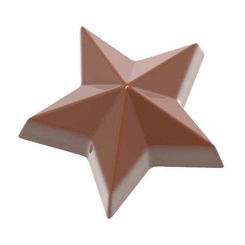 CW1862 Star - Polycarbonate Chocolate Mould