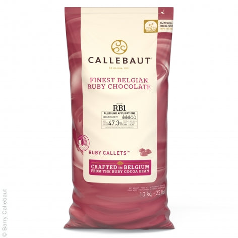 Callebaut 10kg Ruby Chocolate Easimelt 47.3%