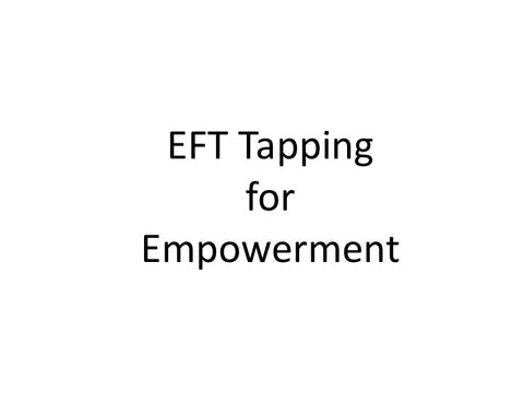 Empowerment EFT Tapping Guide (pdf)