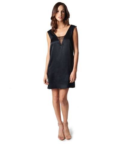 Jeanne Silk Dress - Black