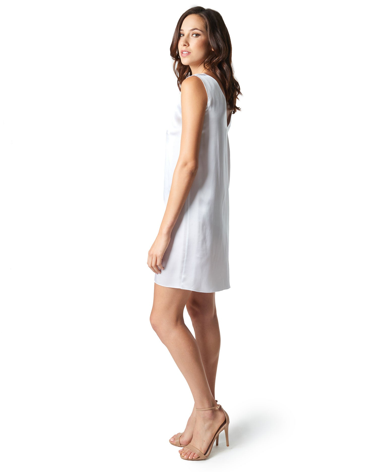 Jeanne Silk Dress - White