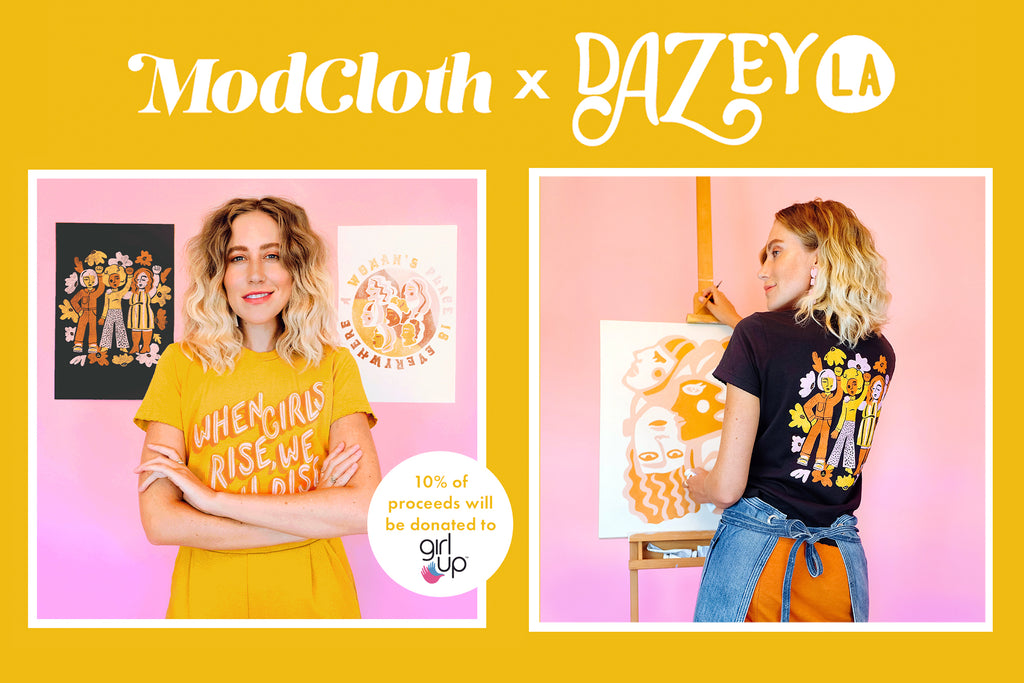 Dazey LA x ModCloth - Giving back and #STOCKSUSTIANABLE