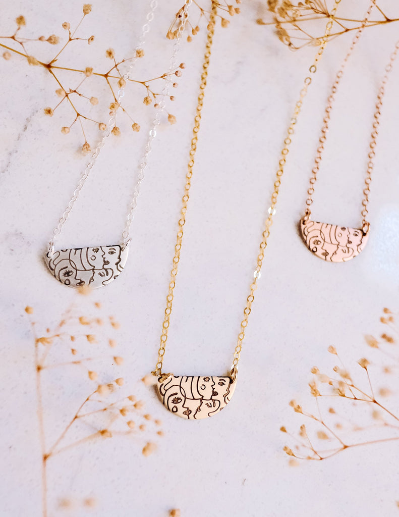 Be(you)tiful Half Moon Necklace